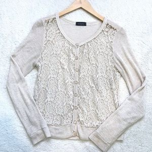 Eclipse | Sheer Lace Cardigan